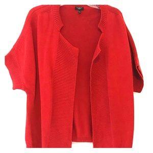 Talbots XL red Cardigan Sweater